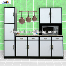 Green Mordern design stainless steel kitchen cabinet for South Africa Market