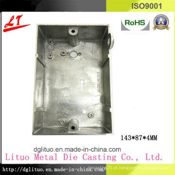 Hardware liga de alumínio Die Casting Iluminação LED e dispositivo de máquinas Switch Cover