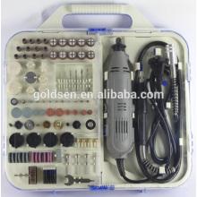 163pcs 135W Portátil Hobby Rotary Ferramentas Kit acessório com Flex Shaft Handheld Grinding elétrico Mini Grinder Set