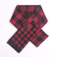 2021 Newest Check Design Elegant Business Men Winter Warm Cashmere Neck Wraps Scarf