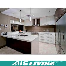U-Form Doppelfarben Küchenschrank für Projekt (AIS-K255)