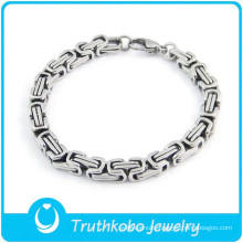 TKB-B0128 wholesale china factory Unique best-selling mechanical design silver 316L stainless steel mens boys bracelets