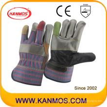 7 Цвета Поврежденная безопасность Промышленная мебель Кожаные рабочие перчатки (310013)