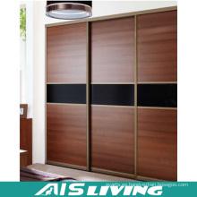 Armario del armario de madera del diseño de la puerta corredera (AIS-W021)