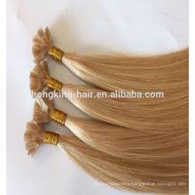 2017 100% Indian Human Hair Double Drawn Thick End Keratin Glue Flat Tip Hair Extensions