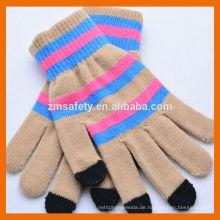 Streifen Smartphone Handschuhe mit 3 Touch Finger