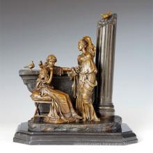Classical Figure Statue Relax Sisters Bronze Sculpture TPE-1006