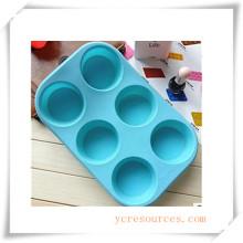 Molde de silicón ovalado de 16 cavidades para jabón, pastel, magdalenas, brownie y más (HA36018)
