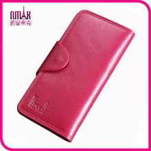 Woman Long Genuine Leather Wallet Multi-Card Holder Cowhide Lady Money Case