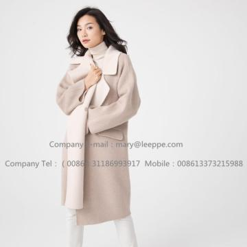 Reversible Cashmere Coat Of Pager Suri Alpaca Mujer