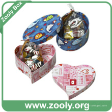 Бумага для картонной коробки с сердечком (ZC005)