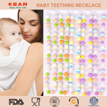 I-BPA Safe Beaded Baby Teething Umgexo ophephile