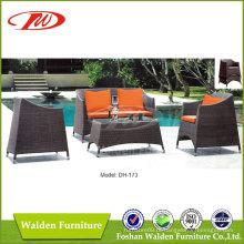 Sofá exterior, sofá de enrugada, sofá de vime (DH-173)