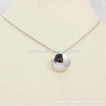 Pulido de plata de acero inoxidable colgante collar de cadena collar de joyería