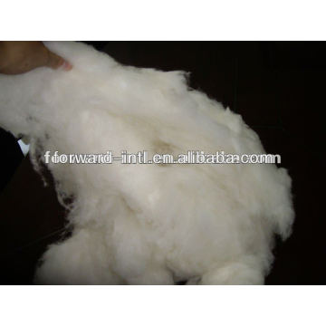 100% pure dehaired cashmere fiber white, light grey, brown