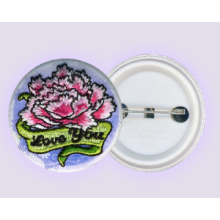 Embroidery Button Badge + Sublimation