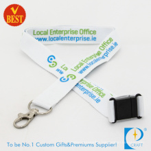 Customized Logo Promotional Flat Polyester Printed Lanyard in High Quality From China