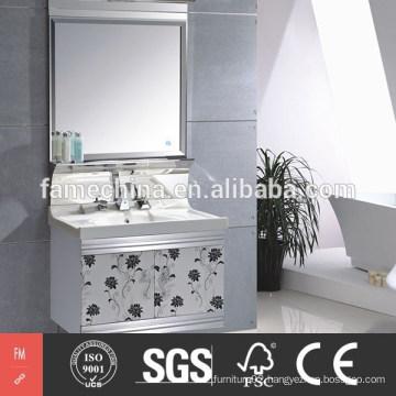 2015 Latest Modern stainless steel bathroom cabinet