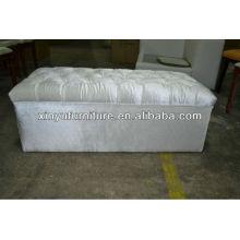 Modern white fabric cover ottoman/stool