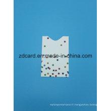 Papier à feuilles d'aluminium Papier RFID Blocking Sleeve Card