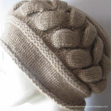 100% de cachemira Chunky Hat