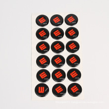 Great quality clear full colour many shapes domed epoxy stickers
