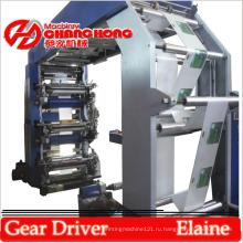 Прочная 4-цветная печатная машина для высокой печати на пластиковой пленке