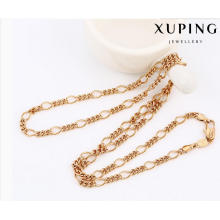 42899 Fashion Cool Rose Gold-Plated Alloy Copper Imitation Jewelry Chain Necklace