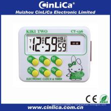 Enregistreur de minuterie minuterie minutieuse à 24 heures avec minuterie