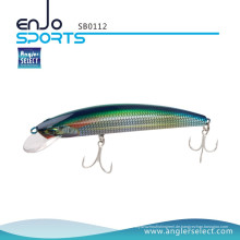 Angler Select Shallow Floating Minnow Angelgerät Köder mit Bkk Treble Hooks (SB0112)