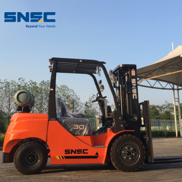 Lpg Forklift Dual Fuel Powered 3.0 Ton