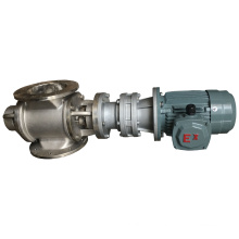 Industrial rotating air lock valve discharge rotary feeder