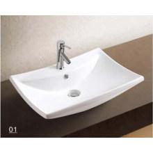 Bacia de lavagem dos mercadorias sanitários da porcelana com acessórios do banheiro (W7146)