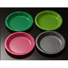 Placa de jantar por atacado Placas de plástico descartáveis Bandeja Multicolor