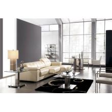 Living Room Genuine Leather Sofa (908)