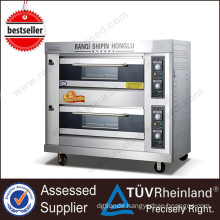 (Ce Approval) Stainless Steel K263 2-Layer 4-Tray Kitchen Oven High Quality Industrial Gas Oven