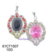 Silver CZ Pendant Jewelry (61CT1507)