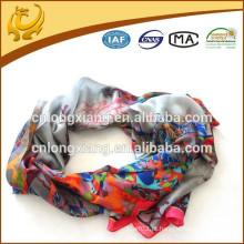 2015 Mais recentes Novel Fashionable 100% Silk Printed Latest Scarf Designs