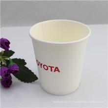 Tasses à café jetables imprimées par logo avec la couverture