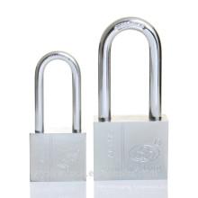 Yalian Safe Long Shackle Square Chrome Plated Iron Padlock with Vane Key