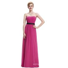 Starzz Strapless Off Shoulder Deep Pink Long Chiffon Bridesmaid Dress Patterns ST000066-3