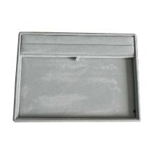 Bandeja múltiple del almacenaje de la exhibición de la joyería del terciopelo gris (TY-RF-GV)