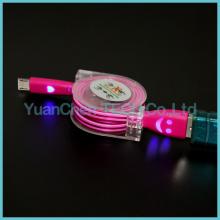 Cable de datos micro USB retráctil de carga rápida para teléfono Android
