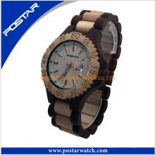 Relógio de madeira de sândalo marrom