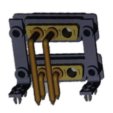Power D-SUB-connector 3W3 Dual Port Right Angle