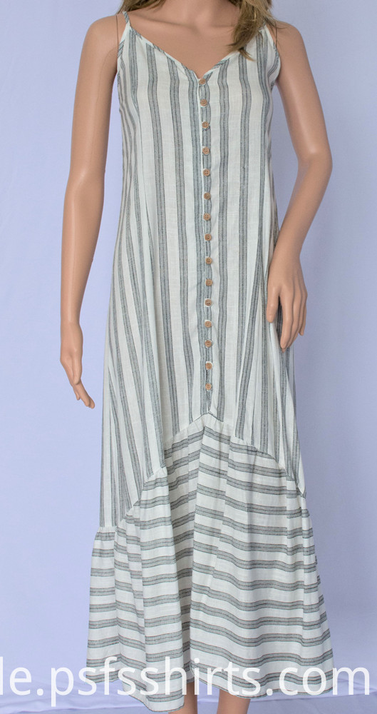 Summer stripped dresses