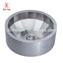 Brass Plated/Silver Stainless Steel 304 Round Wash Basin, Bathroom Sink