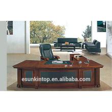 A-09 moda moderna madeira folheado mesa de escritório mesa de escritório secretária chefe executivo