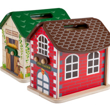 High Quality Diy baby 3d castle kit carry Dollhouse Wooden House Toy,Miniature Doll house