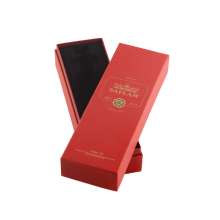 Red wine box gold foil logo with space